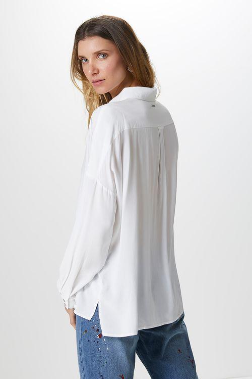 f68e45ca80 Camisa Básica Algodão-Off White - 0712650