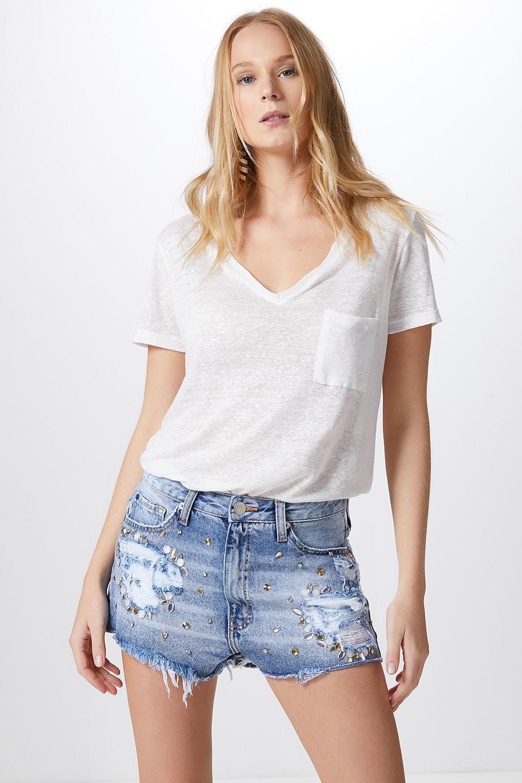Short De Moda 2016: Modelo De Shorts Feminino Jeans, Cintura Alta E Mais